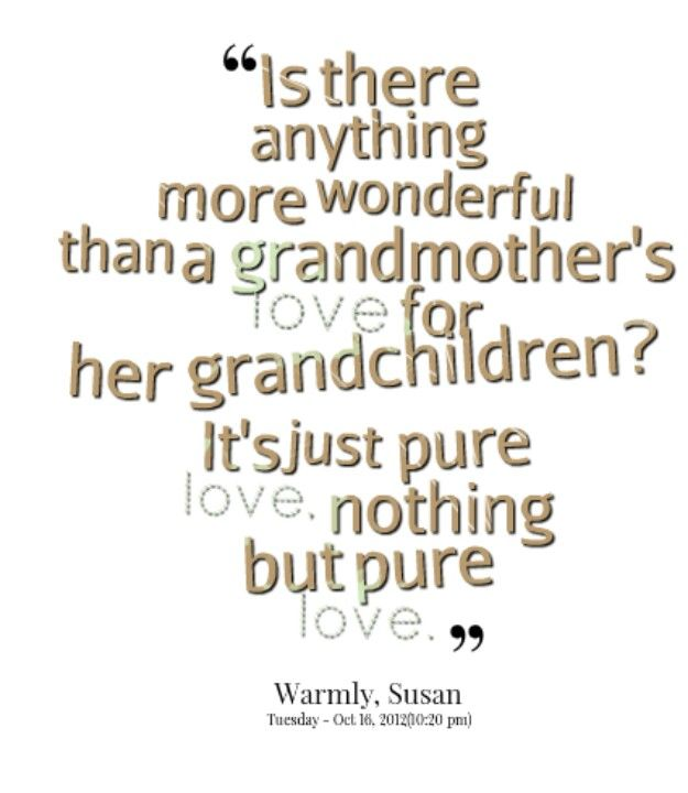 Is there anything more wonderful and pure and honest  than a Grandmother's love for her Grandson?  It's just pure love nothing but pure love.  Tutu