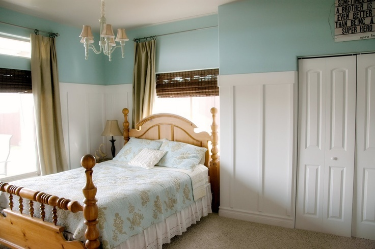 great use of space: Wall Colors, Ocean Kiss Behr Paintings, Guest Bedrooms, Pretty Colors, Paintings Colors, Bedrooms Nurseries, Behr Ocean Kiss, Paint Colors, Bedrooms Ideas