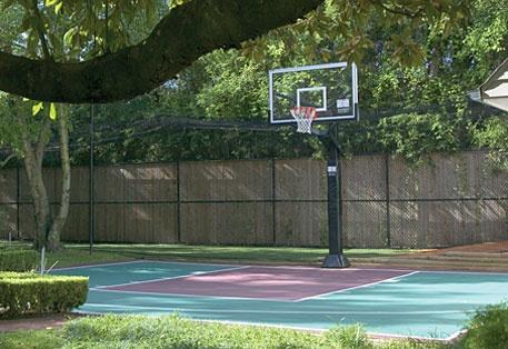 30 best basketball court images on pinterest backyard for Half basketball court cost