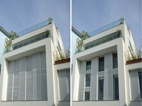 casa com veneziana de aluminio branco
