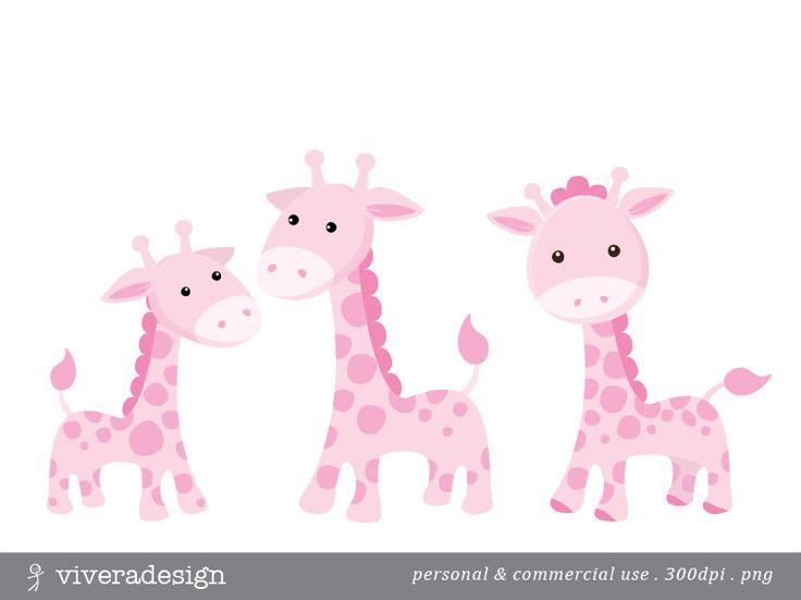 Baby Pink Giraffe Clipart