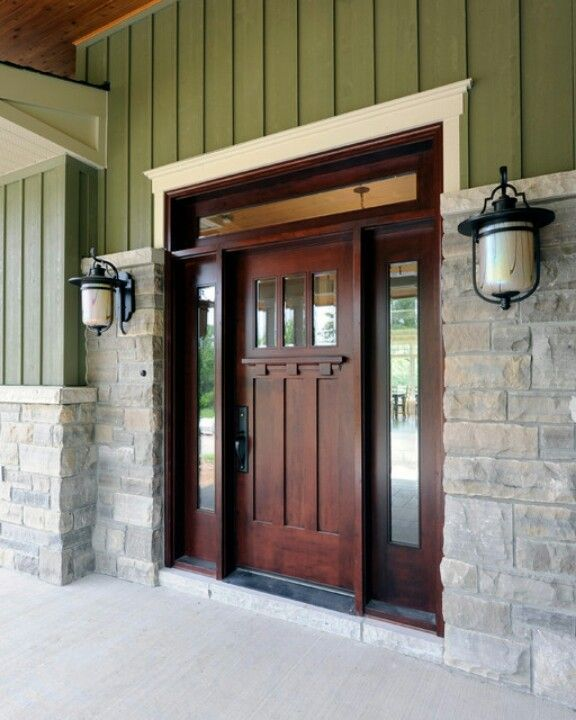 Wonderful Beautiful Aaw Doors Fashion Ottawa Craftsman Entry Decorating Ideas With Entry  Front Door Front Entrance Green Exterior Outdoor Light Porch Stone Stone ...