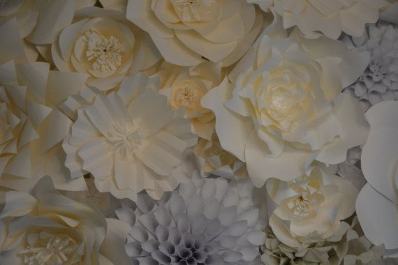 Giant Paper Flowers by APaperThumb on Etsy