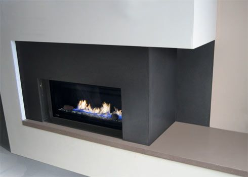 spark gas fireplace and a concrete fireplace surround concrete fireplace surrounds trueform concrete custom