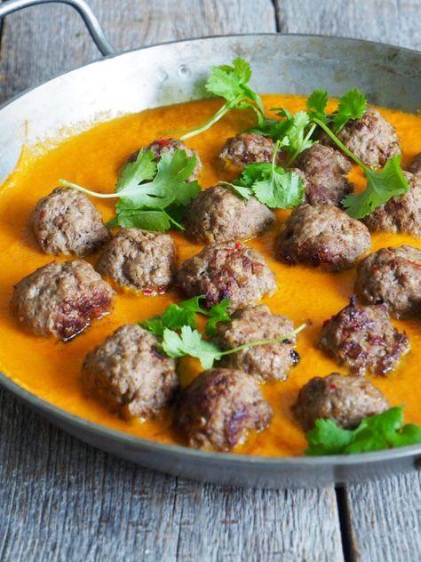 Kjøttboller i currysaus