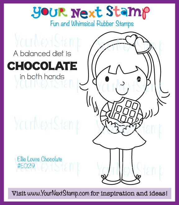 Ellie Loves Chocolate (cling set) [E029] - USD9.95 : Your Next Stamp