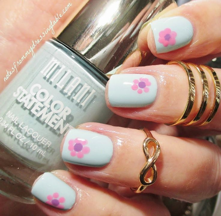 Notes from My Dressing Table: Milani Color Statement Nail Lacquer in Mint Crush with Bonus Sloppy Nail Art!
