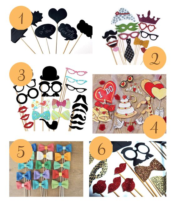 Etsy Roundup – Fun Photobooth Props