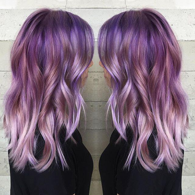 Frozen Amethyst! Purple hair color to silver purple hair color by Jacqui of Butterfly Loft Salon wwwhotonbeauty.com