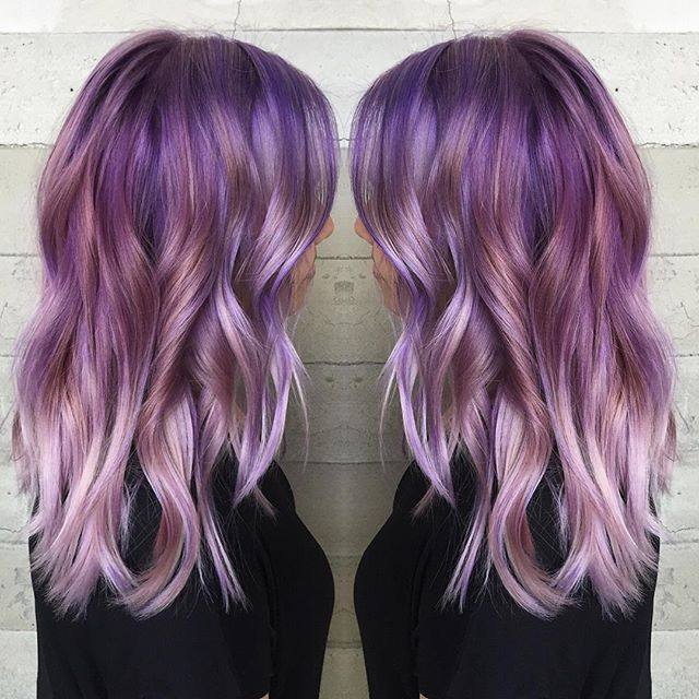 Frozen Amethyst! Purple hair color to silver purple hair color by Jacqui of…