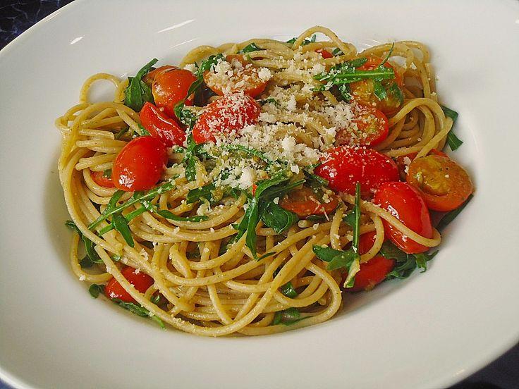 Spaghetti mit Rucola und Pesto, ein leckeres Rezept aus der Kategorie Gemüse. Bewertungen: 1. Durchschnitt: Ø 3,3.