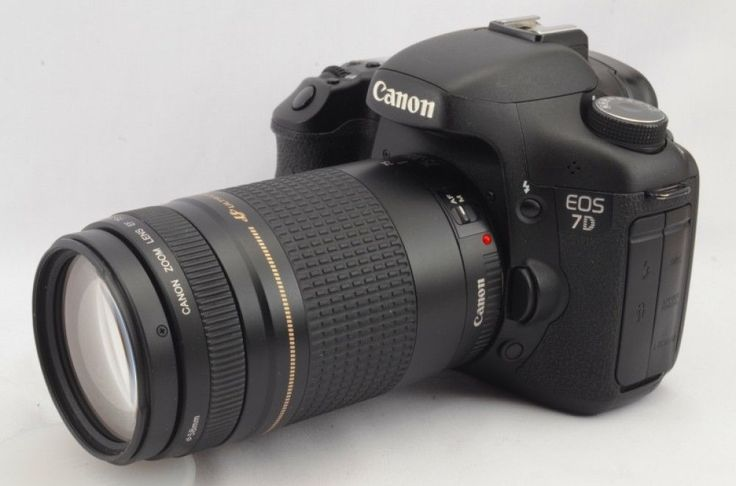 Canon EOS 7D DOUBLE ZOOM SET Very Good Condition Japan Import F/S GIFT #16503 #Canon