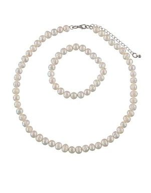 Pearl Necklace & Bracelet Set | Woolworths.co.za