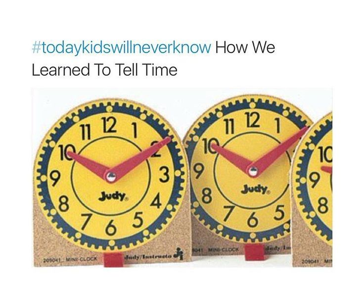 #todayskidswillneverknow  I still have trouble telling time. These didn't help me lol