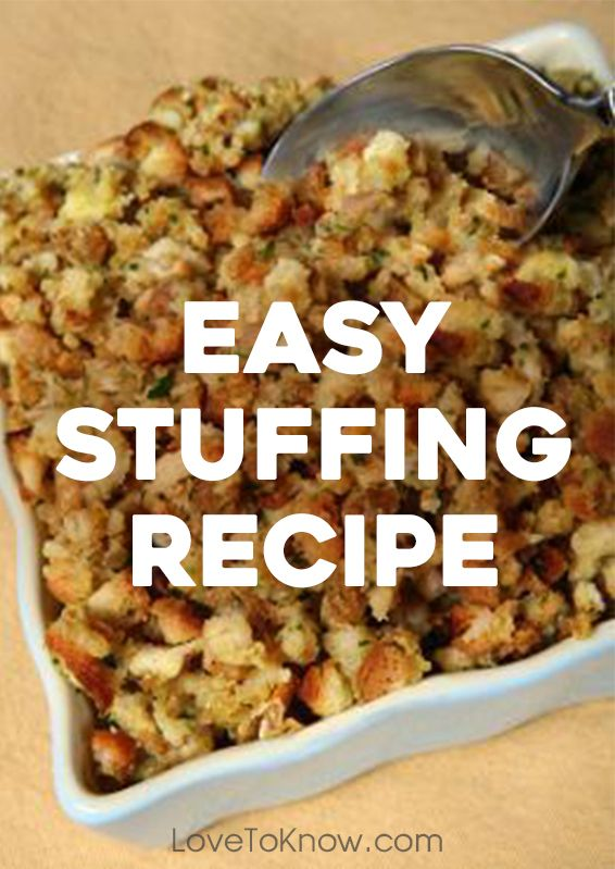 Delicious stuffing doesn't have to be difficult, or take forever. This easy stuffing recipe will be on the table before you know it. | Easy Stuffing Recipe from #LoveToKnow