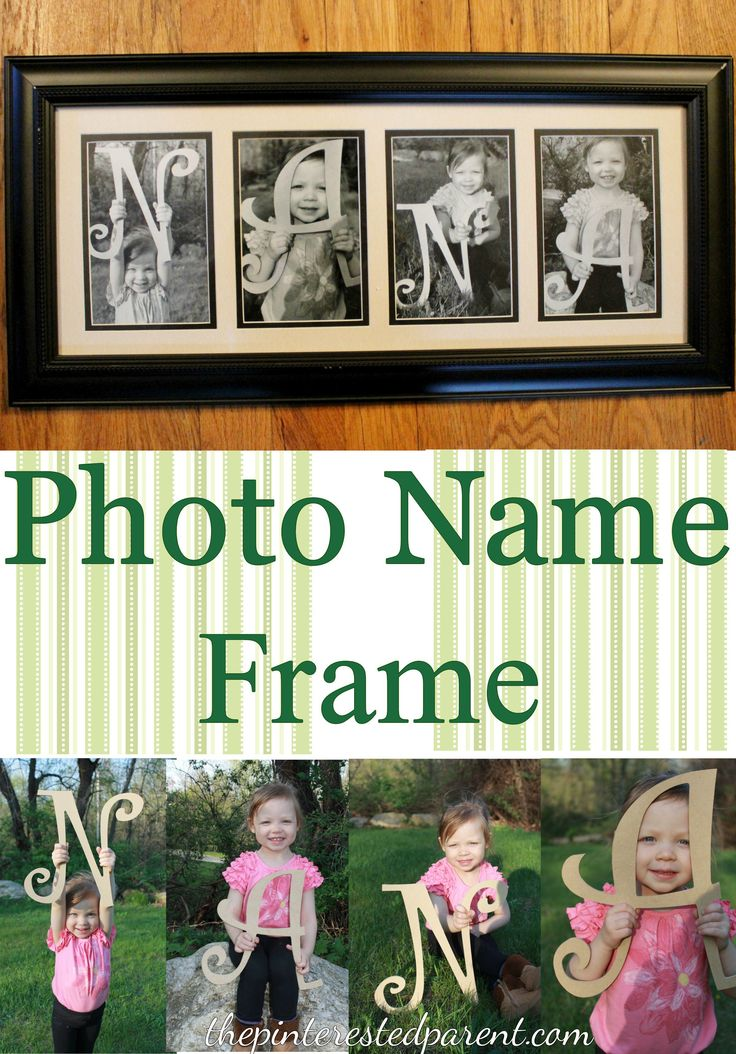 Photo Name Frame - A great gift for every occasion