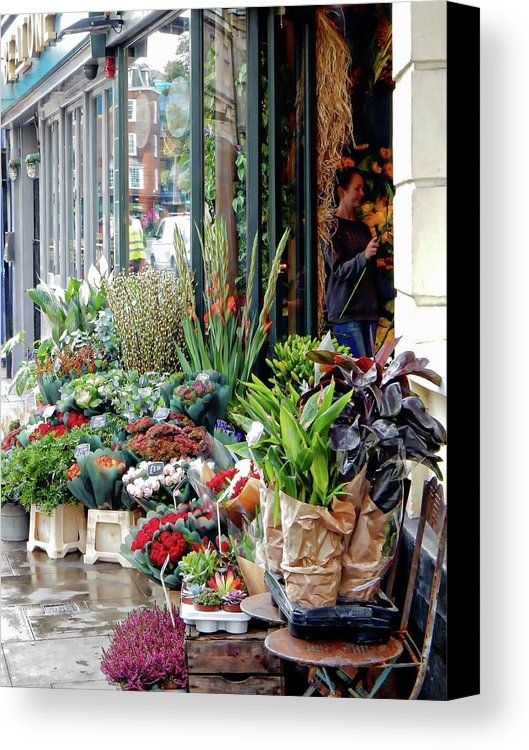 The Florist Shop Canvas Print featuring the photograph The Florist Shop by Dorothy Berry-Lound
