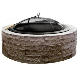 Four Seasons Outdoor Product 42-In W Tan Stone Wood-Burning Fire Pit F