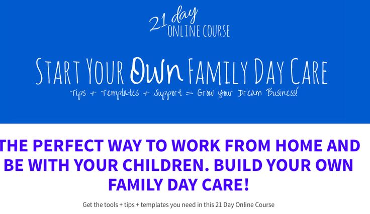 Interested in getting into Family Day Care? Not sure where to start? Then check out my original online course to give you as much info as possible to help you decide and get started!