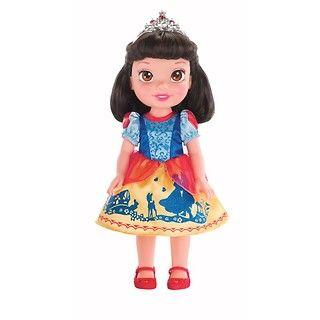 """Lalka Śnieżka z filmu """"Królewna Śnieżka i siedmiu krasnoludków"""" to marzenie każdej dorastającej dziewczynki. Lalka posiada przepiękne, trójwymiarowe, błyszczące oczka, w których można dostrzec blask marzeń. #Śnieżka #gift #zabawka #lalka"""