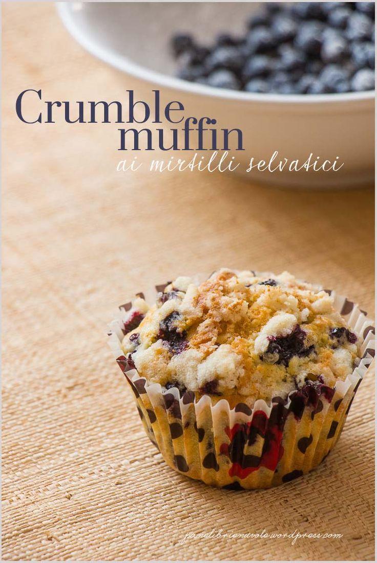 Crumble muffin ai mirtilli - Blueberry crumble muffin