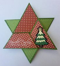 Star fold card.  Free Cricut Design Space cutting file available from www.facebook.com/groups/cricutexploreandmore