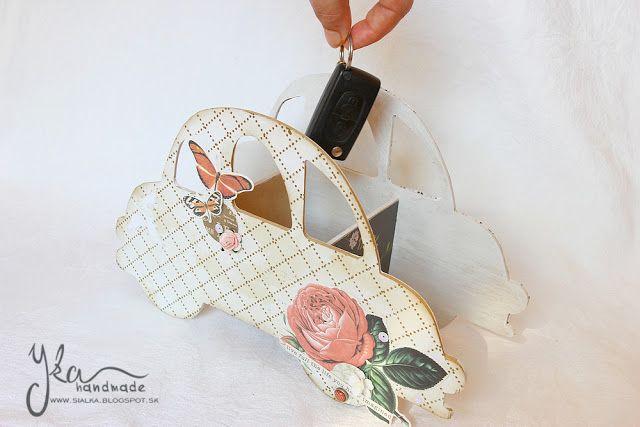 Yka handmade: Autíčko na kľúče