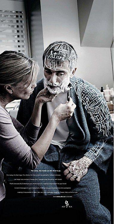 "ALS Society of Canada ""No Signal"" print campaign"