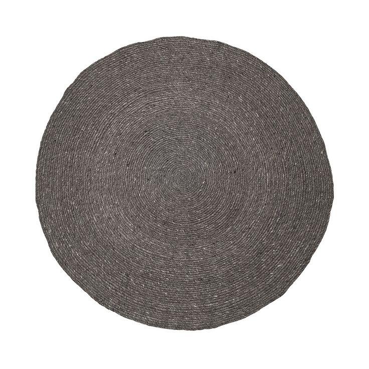 Bloomingville Runder geflochtener Teppich - Grau Kaufen | Amara