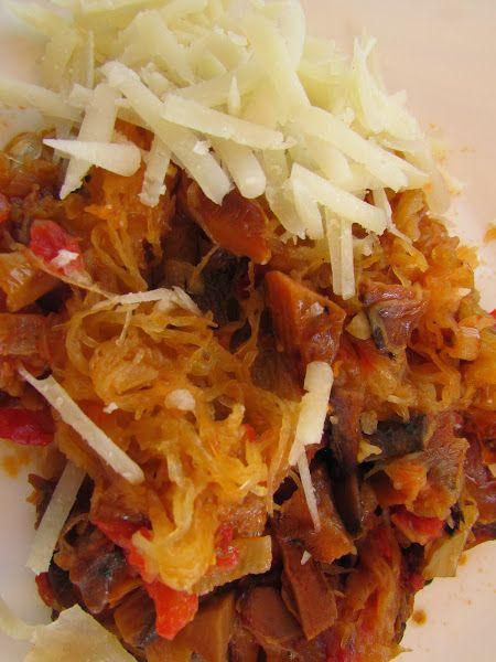 Calabaza Espagueti con Setas