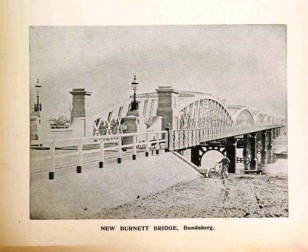 New Burnett Bridge, Bundaberg circa 1900