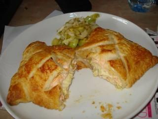 Salmon en Croute with leeksSeafood Recipe, Yummy Seafood