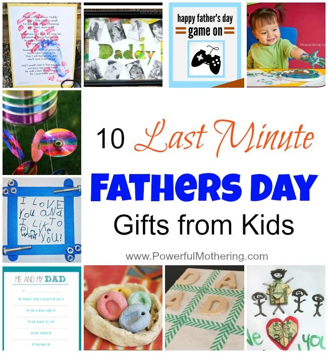 A rather quick and do-able list for last minute fathers day ideas!
