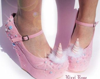 Magical Unicorn Wedges #kawaii