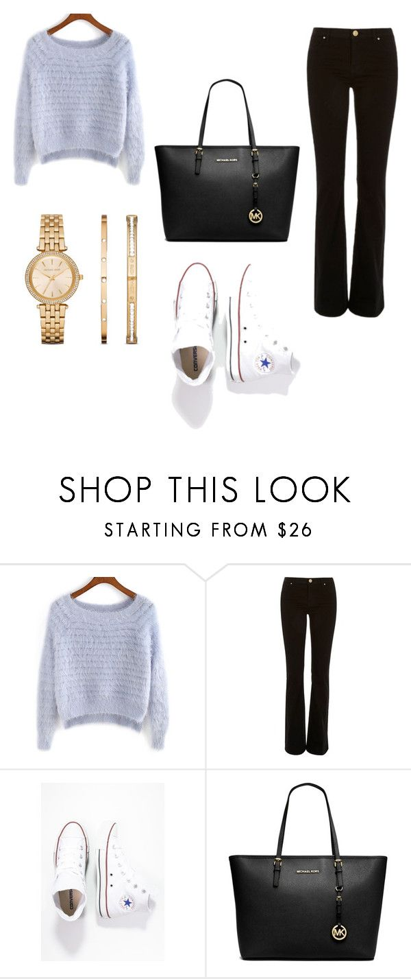 """Untitled #12"" by mariachun on Polyvore featuring River Island, Converse, MICHAEL Michael Kors and Michael Kors"