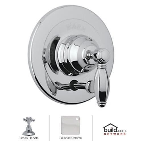 Rohl A2400XM Country Bath Shower Valve Trim (Trim Only) with Diverter and Metal Cross Handle (Polished chrome)