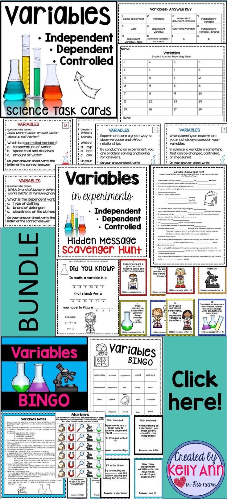 A bundle FULL of content on independent, dependent, and controlled  variables!