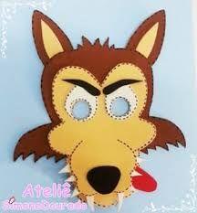 Resultado de imagen para mascaras de lobo en goma eva