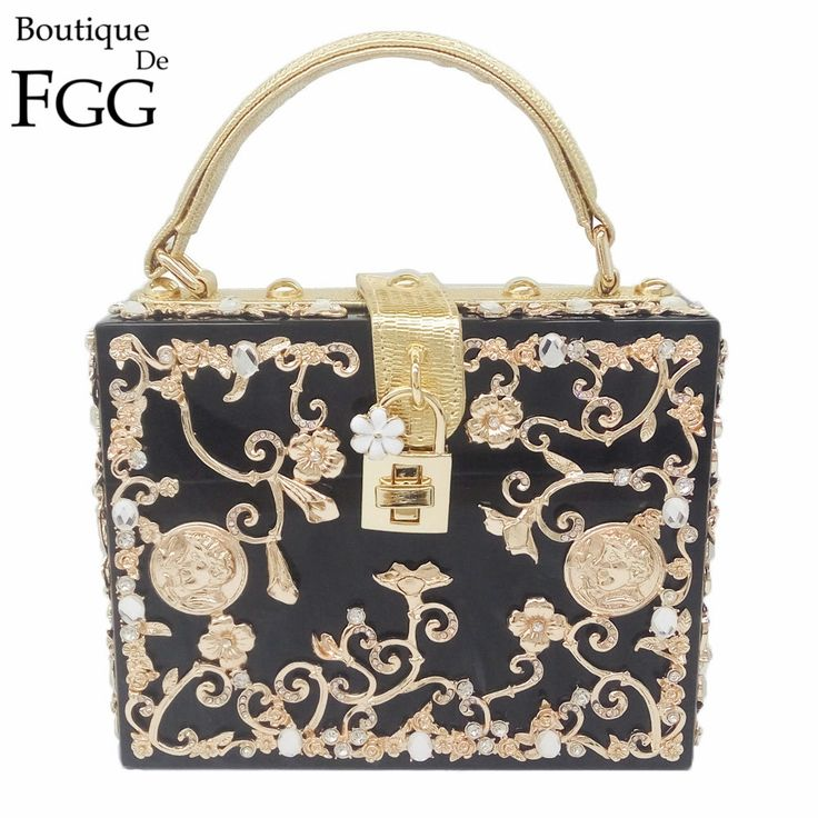 44.94$  Watch now - Floral Crystal Women Evening Totes Bag Silver Acrylic Clutches Shoulder Handbags Crossbody Bags Hardcase Ladies Box Clutch Bag  #buychinaproducts