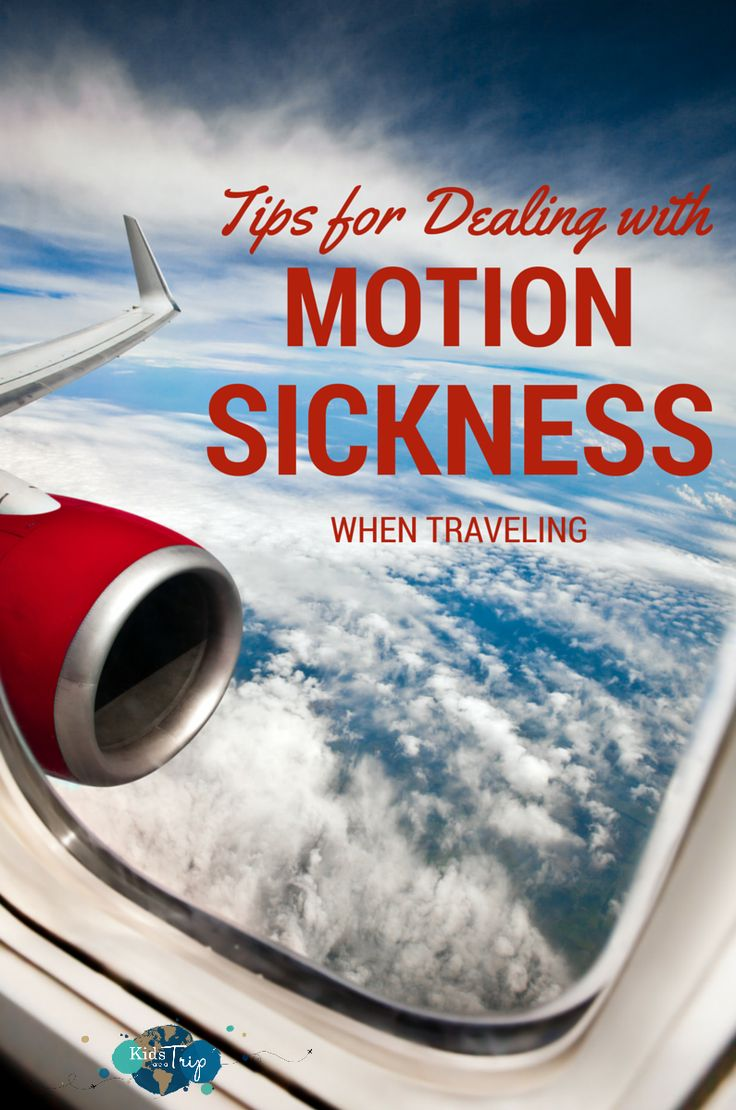 Dealing with motion sickness when traveling isn't easy. Motion sickness can affect many children and having a plan to address it will make life easier.