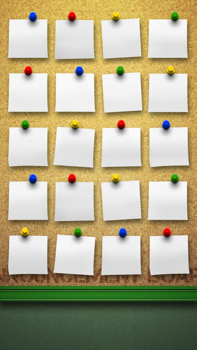 Sticky Notes Shelves HD iPhone 5 Wallpaper