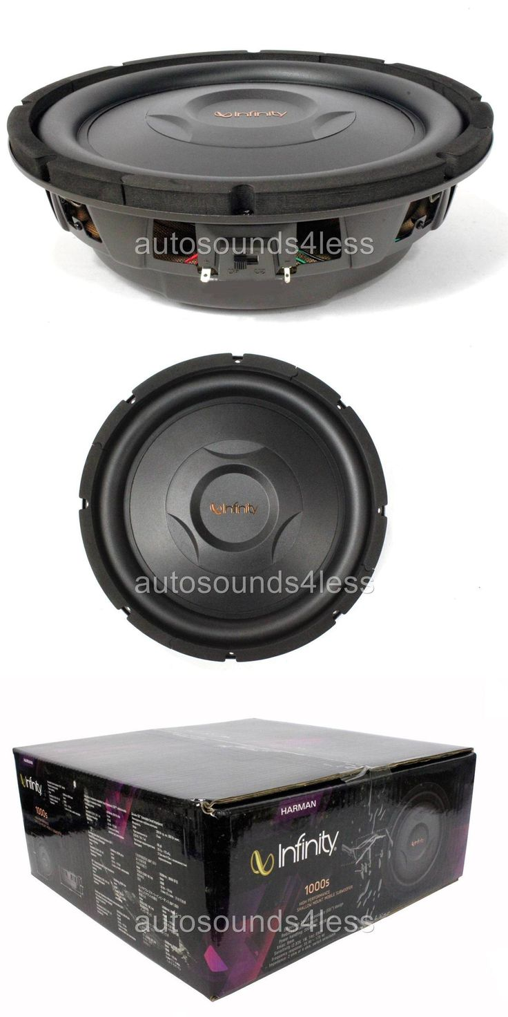 Car Subwoofers: Infinity Ref1000s 800 Watts 10 Selectable Impedance Shallow Mount Subwoofer -> BUY IT NOW ONLY: $94.94 on eBay!