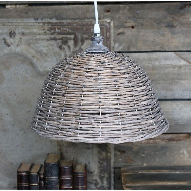 lampa wiklinowa #wicker #lamp #vintage #village