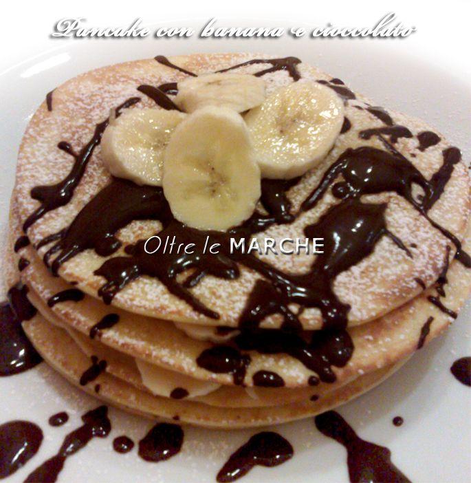 Pancake con banana e cioccolato   Oltre le Marche