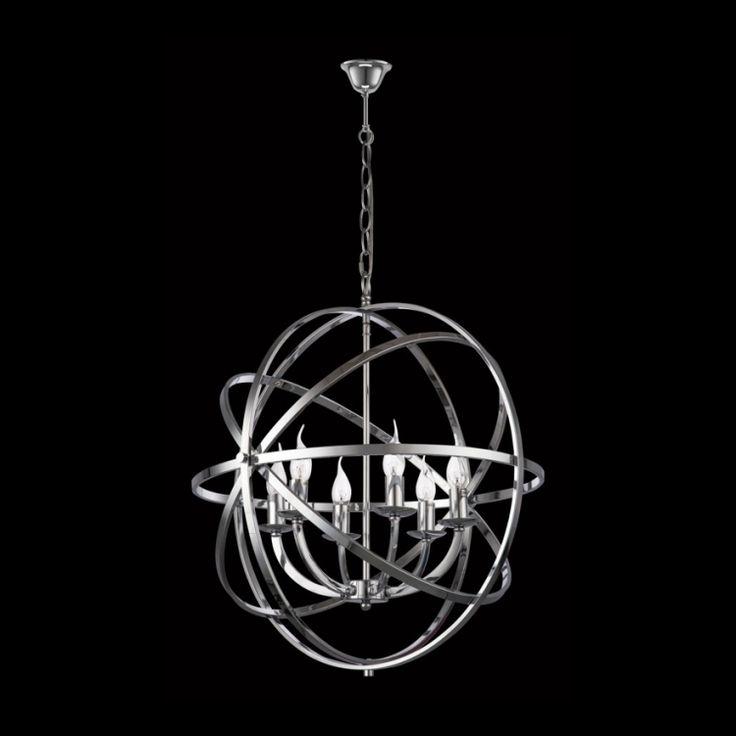 Chrome Sphere Chandelier, Large