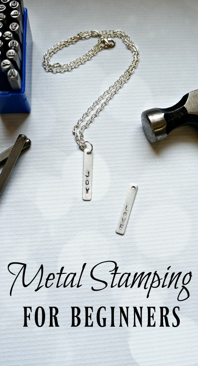 DIY Craft: Metal stamping for beginners. Learn how to make your own custom jewelry with this step by step tutorial.