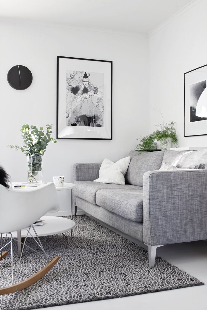 Karlstad sofa isunda grey fabric - living room