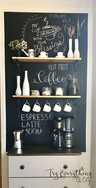 Coole DIY-Kaffeestation Ideen, die Sie mit alten Möbeln zu Hause machen können