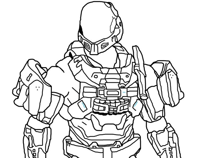 Download And Print These Halo 3 Odst Coloring Pages For