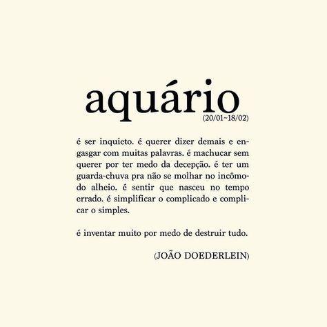 Signo de aquário - @akapoeta